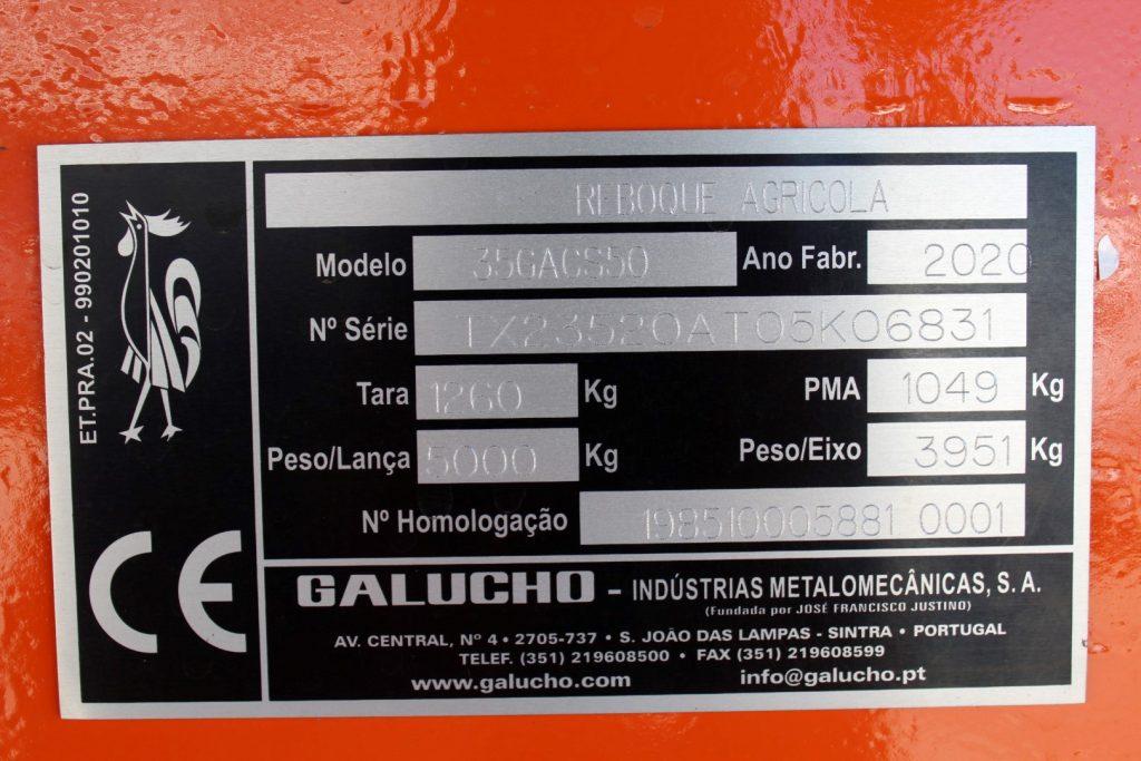 REBOQUE GALUCHO 5000KG cheio