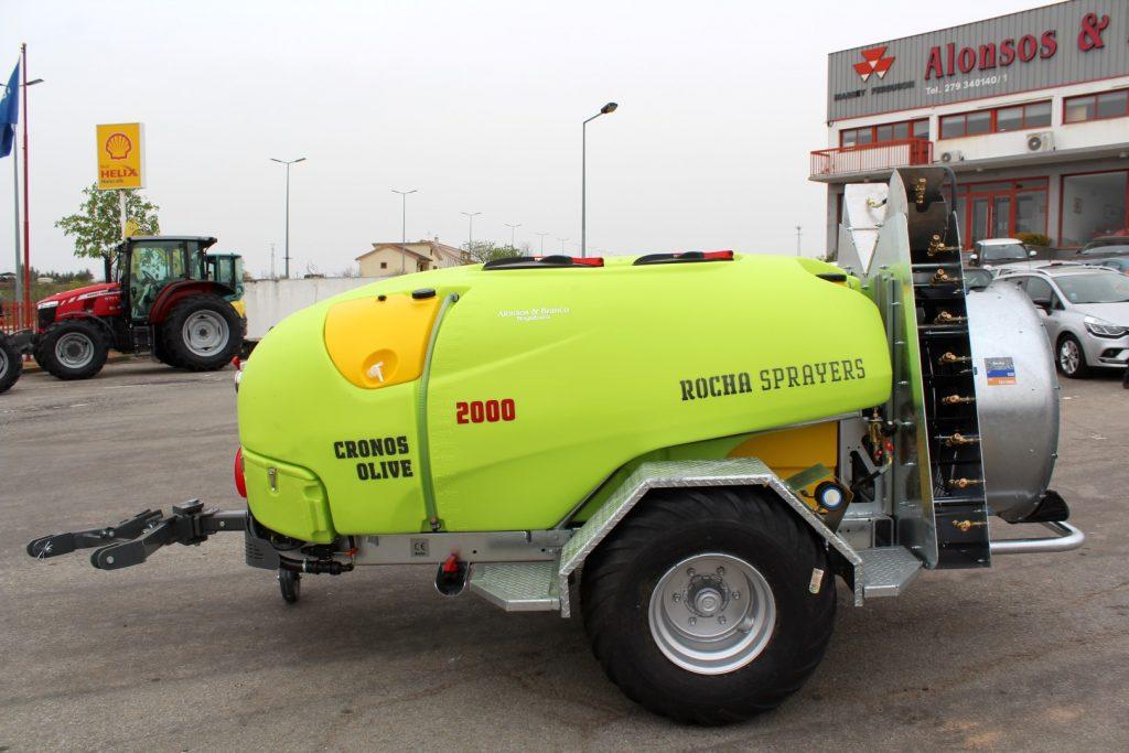 Pulverizador rebocável ROCHA CRONOS OLIVE 2000L cheio
